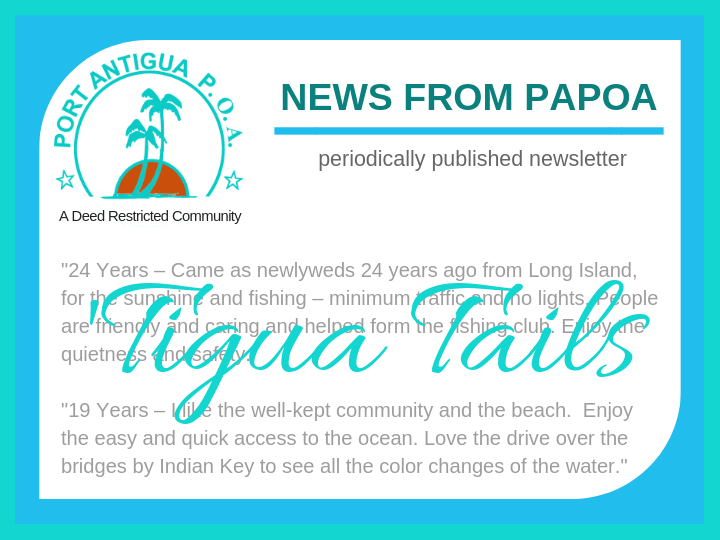 Port Antigua POA Newsletter