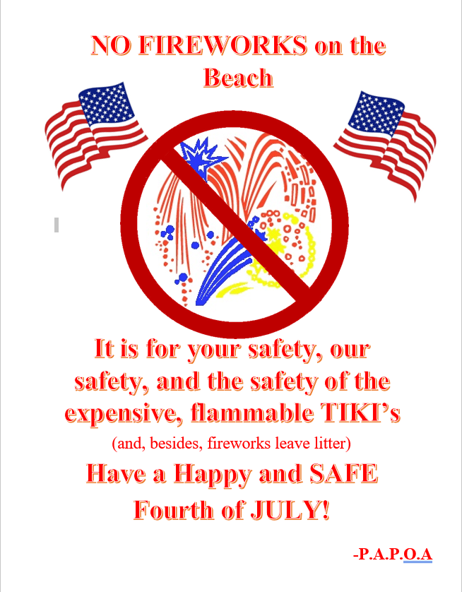 No Fireworks on the Beach poster