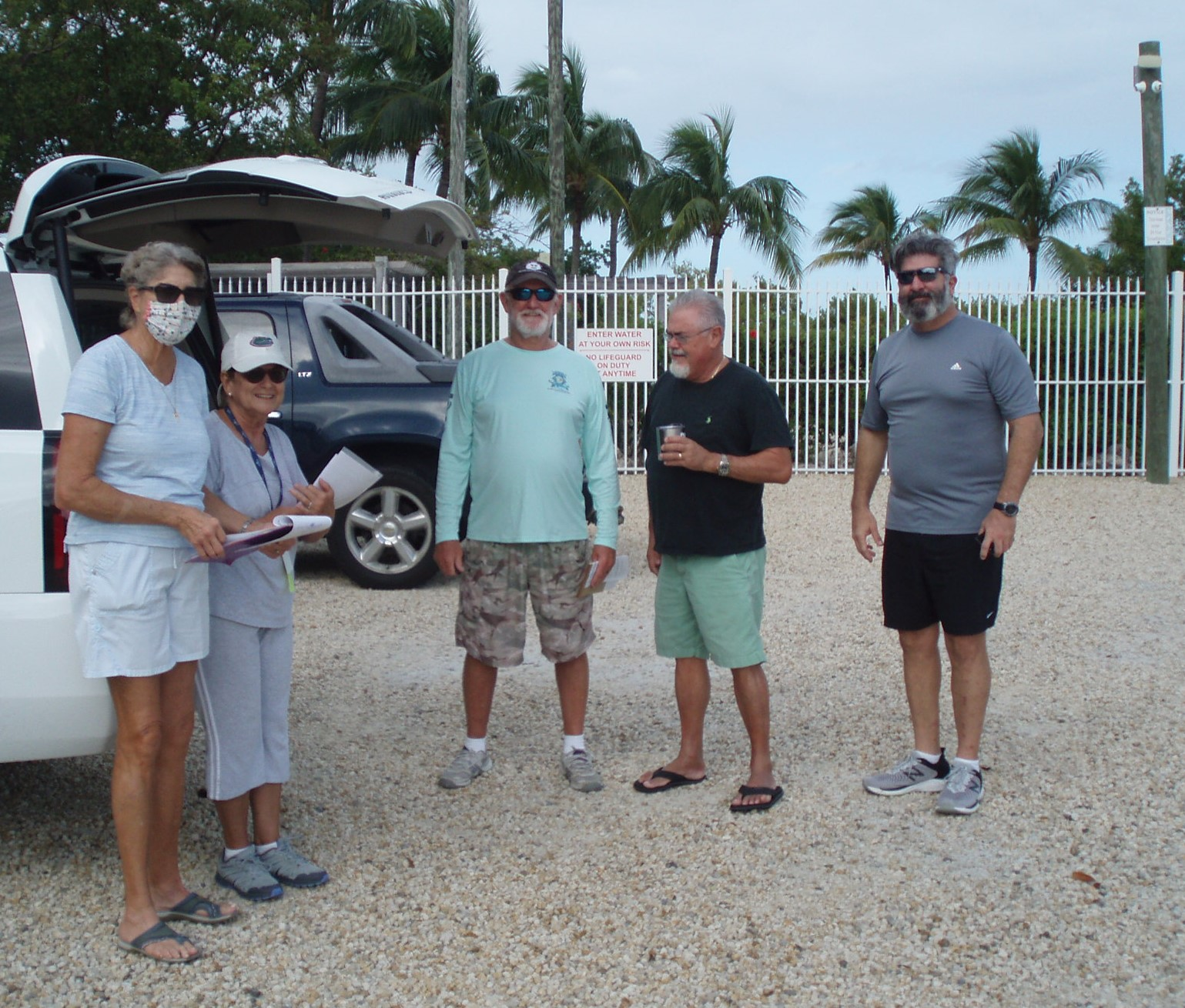 Our Maintenance Committee at the beach