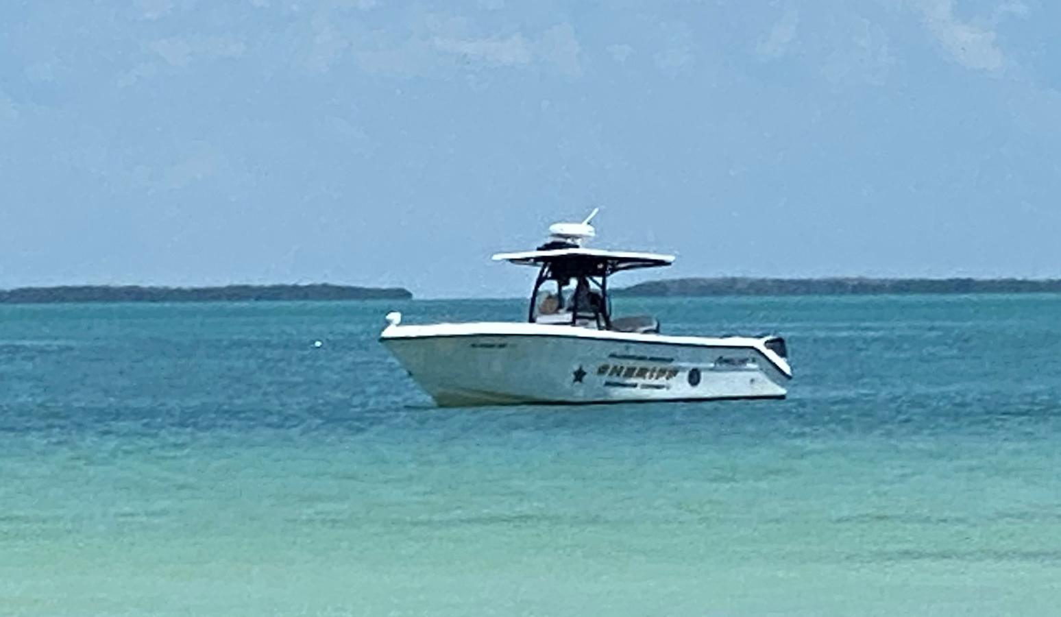 MCSO Boat off the Beach
